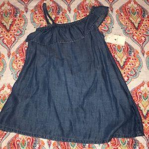 Baby gap denim ruffle dress